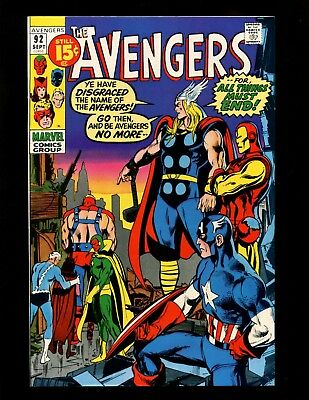 Avengers #92 VF Neal Adams Buscema Captain Marvel Kree-Skrull War Nick Fury FF