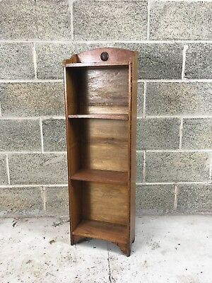 Small Oak Arts and Crafts Style Bookcase