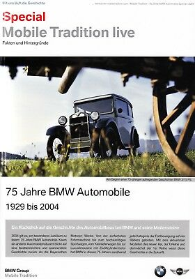 BMW MOBILE TRADITION SPECIAL 75 Jahre Years Automobile Prospekt Brochure 2004 48