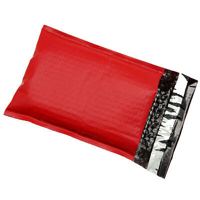 100 #2 RED Poly Bubble Mailers Envelopes Padded Mailer Shipping Bags 8.5x12