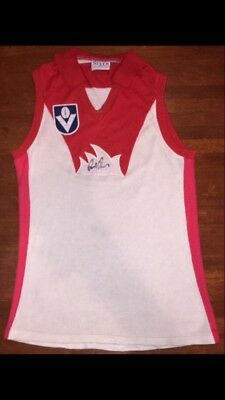 AFL 1986 Sydney Swans Guernsey Signed By Paul Roos