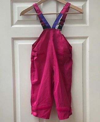 Togz Pink Waterproof Dungarees Trousers Rain Wellie Weather 18-24 Months