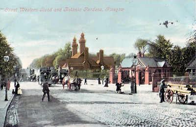 Early Postcard,Great Western Road & Botanic Gardens, Glasgow