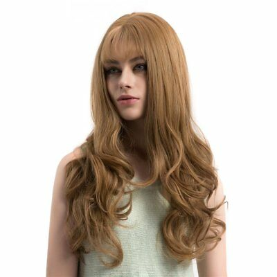 WIG365 Women Gold Front Wig Synthetic Heat Resistant Fiber Long Wavy Wig WN