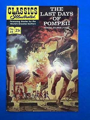 The Last Days of Pompeii 1970 Classics Illustrated #35 5th Printing Cover $.25