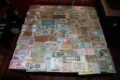 Lot of 100 Vintage Mixed Foreign World Currency Paper Money  RMC #5