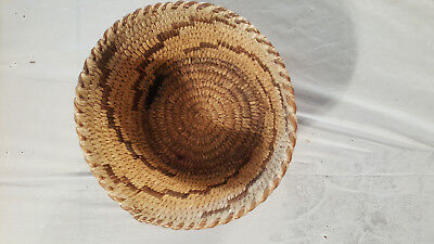 Antique 1933 Woven Indian Basket from Arizona Reservation