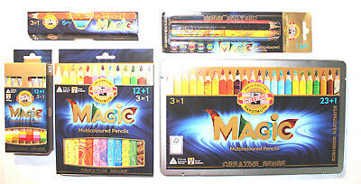 KOH-I-NOOR Magic Multicoloured Jumbo Pencil set of(3404N)or(3406)or(3408), New