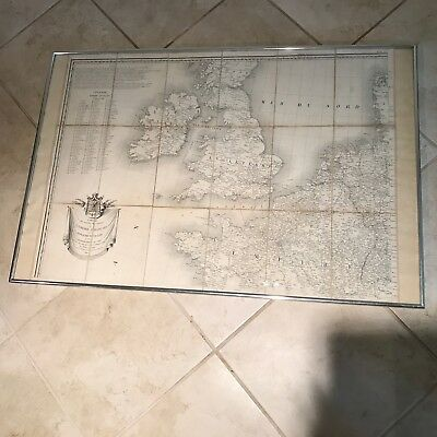 Antique Napoleon's Pocket Map of Europe 1814 - Partial Map