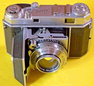 Kodak Retina IIa RECENT OVERHAUL BY CHRIS SHERLOCK -SCHNEIDER  EX+++ NICE