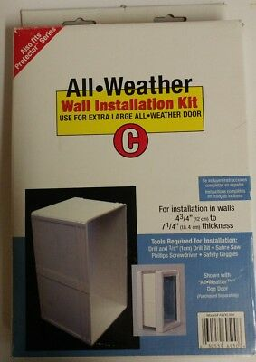 Perfect Pet All Weather Wall Installation Kit C for Extra Large Dog Door AWXLWK