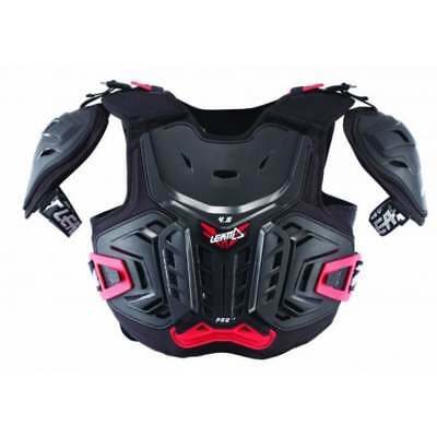 LEATT Junior Kids Youth 4.5 Pro Motocross MX Chest Protector Armour - Black/Red