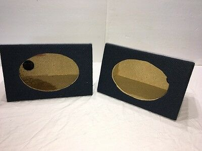 "Amazing Angled Style 6""x9""Car Audio Speaker Box Enclosures PAIR-BLUE-W SPK CLIPS"