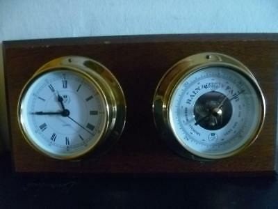 Vintage Gb Wall Clock -Barometer Made In Germany