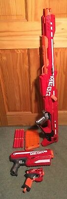 Big Bundle of Mega Nerf Guns with 8 shots in Great condition inc the Centurion