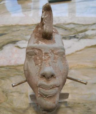 Akhenaten (Bust carved from hard stone) Uraeus headdress ***Special*** (AK20181)