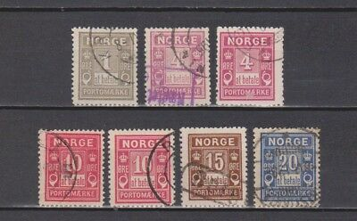 Norway / Norge - Postage Due - 7 Different Stamps (2 Scans)