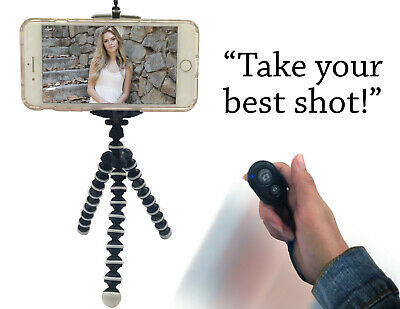 Mini Flexible Octopus Tripod Bluetooth Remote Shutter for iPhone Android Camera