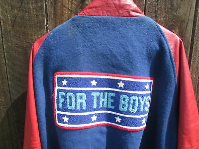 FOR THE BOYS Vintage 1991 BETTE MIDLER Film Crew USO Leather Jacket Signed WW II