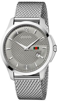 3aaa47ae805 GUCCI G-TIMELESS SILVER Tone Stainless Steel Mesh Men s Watch ...