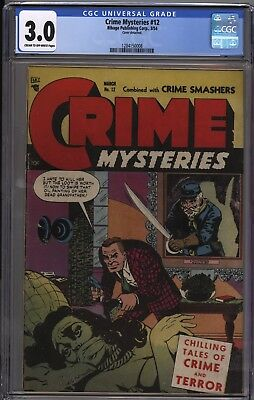 CRIME MYSTERIES 12 CGC 3.0 GD/VG Hot Series GGA Bondage Cover Only 4 on census
