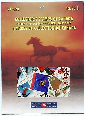 Weeda Canada 2002 January-March Quarterly Pack, sealed! Face value $15.20