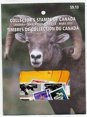 Weeda Canada 2003 January-March Quarterly Pack, sealed! Face value $9.10