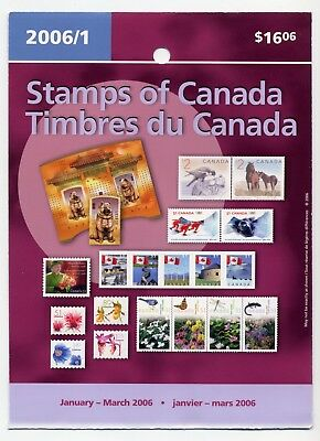 Weeda Canada 2006 January-March Quarterly Pack, sealed! Face value $16.06