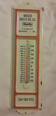 VTG Skelly Oil Co. Thermometer Weiler Skelly Oil Marshfield Wisconsin