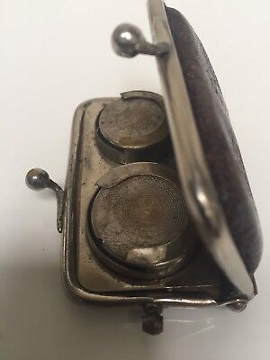 Antique Victorian/Edwardian Old Leather Double/Half Sovereign Coin Purse/Holder