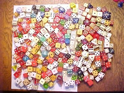 Large lot of Vintage DICE RARE 250+ Game Peices