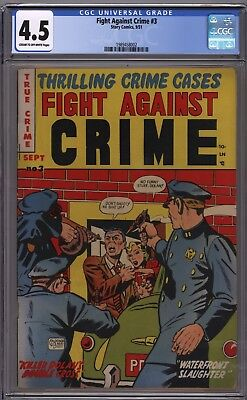 Story Fight Against Crime 3 CGC 4.5 CROW  VG+ Gerber 6 Tough Book None On Census