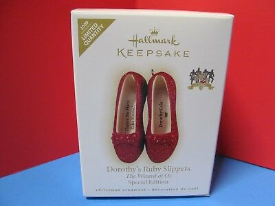 "2009 Hallmark WIZARD OF OZ Special Edition ""Dorothy's Ruby Slippers"" - MIB!"