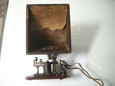 J. H. BUNNELL NY USA SOUNDER WUTEL Co. 4 OHMS With WOOD RESONATOR