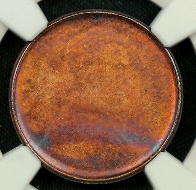 NGC MS64 RB 1995 OBVERSE STRUCK THRU CAPPED DIE ERROR LINCOLN CENT 1c    (BC04)