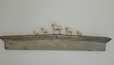 Old Antique Archectural Pediment From 1850's Farmstead..sage Green Paint...aafa