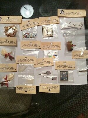 Mixed Lot Of 15 Dollhouse Miniatures By Amy Robinson (see Photos)