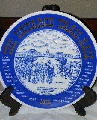 1978 ORIGINAL FIRST ISSUE Iditarod Trail Race Collectible Plate