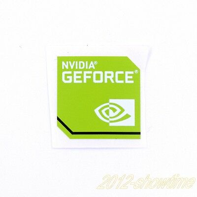 5pcs  NVIDIA GEFORCE Sticker 17.5 x 17.5mm Case Badge Logo for laptop ST010 NEW
