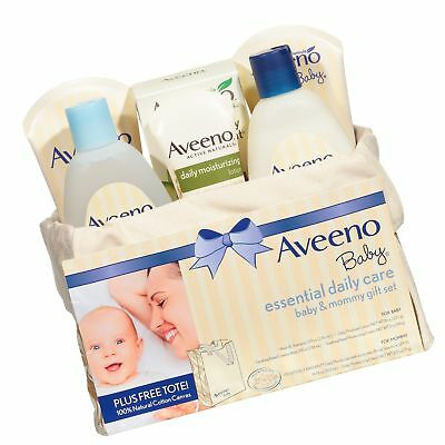 Aveeno Baby Essential Daily Care Baby & Mommy Nourishing Skincare Gift Set, 8...