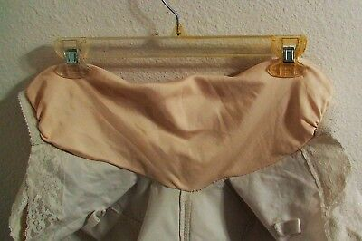 Girdle + WIDE LIQUID SATIN GUSSET Size--(see measurements)