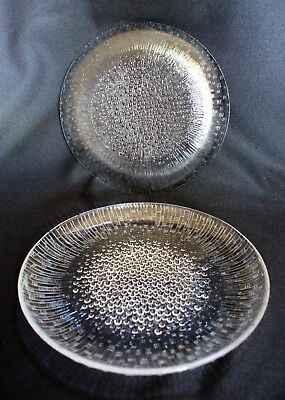 IITTALA Ultima Thule FINNISH glass LARGE PLATES [2 x 25cm Dinner Plates]