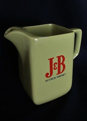 Vintage J&B Scotch Whisky Water Jug WADE England Mustard Colour