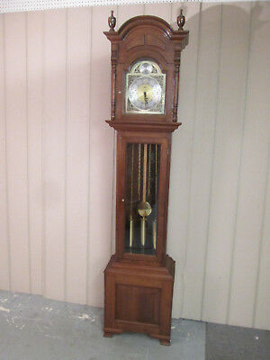53482 Mahogany Emperor Grandfather Clock  with Silent / chime feature
