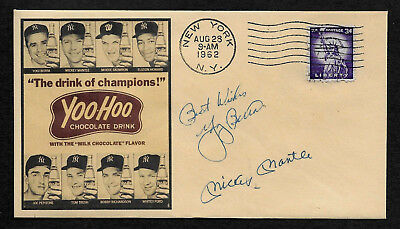 1960s Mickey Mantle Yoo-Hoo Drink Ad Featured on Collector's Envelope *OP537