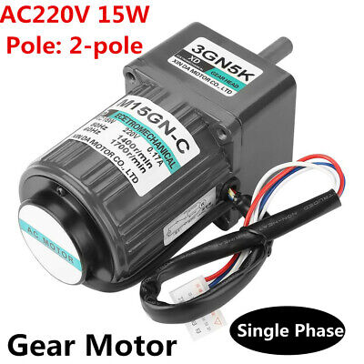AC 220V 15W Gear Reduction Speed Regulating Motor+Governor Rated Speed 15-500RPM