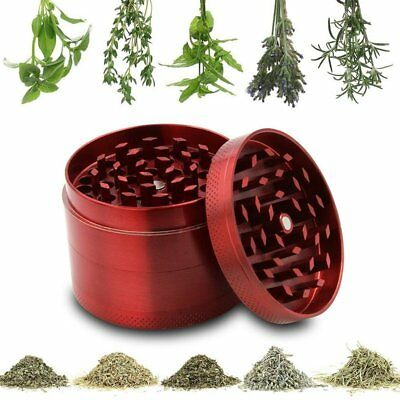 Metal Tobacco 4 Layers Crusher Smoke Herbal Herb Mill Grinder Hand Muller Rednew
