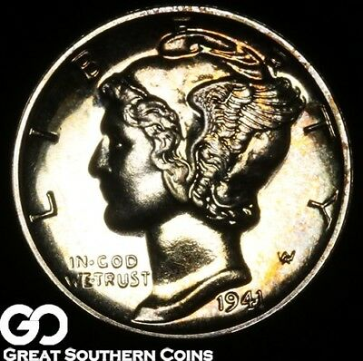 1941 Mercury Dime PROOF, Razor Sharp Superb Gem PF