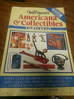 Warman's Americana and Collectibles by Harry L. Rinker 1989 Paperback)4th Ed