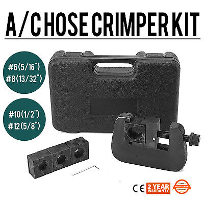 AG-7843B Manual A/C Hose Crimper kit SUPERIOR MANUALLY  #8 EXTREMELY EFFICIENT